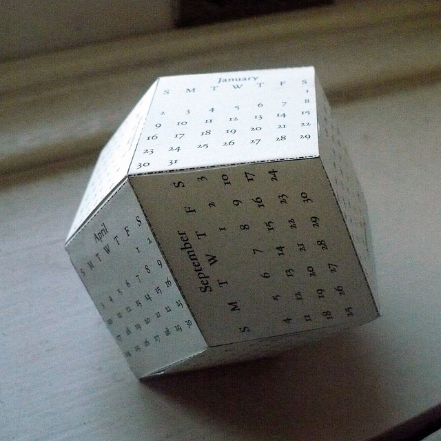 Rhombic Dodecahedron Calendar by Philip Chapman-Bell
