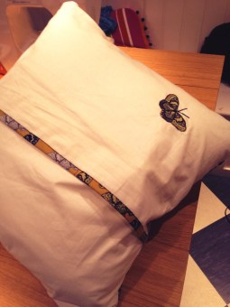 Bespoke cushion covers - using machine applique & making matching bias binding (1 cushion, 2hrs)