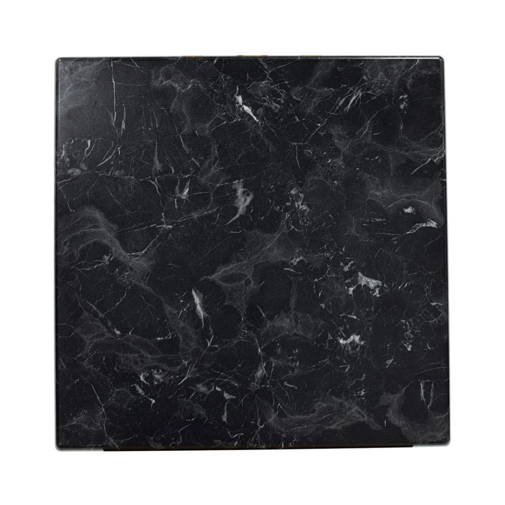 700mm square isotop plus table top in alcantara black marble