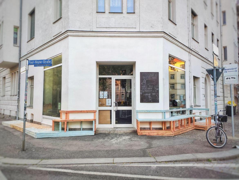 TRAGO Leipzig Stannebeinplatz Café Außen Mai 2020