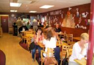 Customers enjoying the cafe