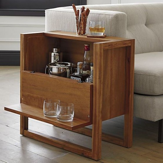 Mini bar en madera o metal 30 ideas para el hogar  Brico