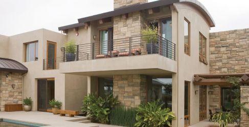 casas colores casa exterior fachadas fuera exteriores modernas pintar ventanas combinacion como arena oscuro columnas pintada tono guetzli detalles 2021