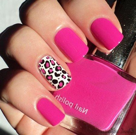 Uñas De Leopardo Rosa Decorados De Uñas