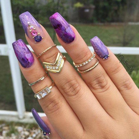 Juveniles Moda Diseños Uñas Acrilicas 2019 Decorados De Uñas