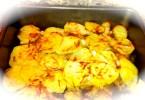 White pumpkin potato gratin