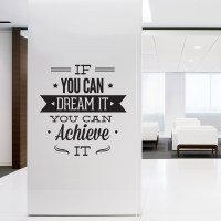 Wall Decal Quotes - Wall Art Typographic Sticker Dream It ...
