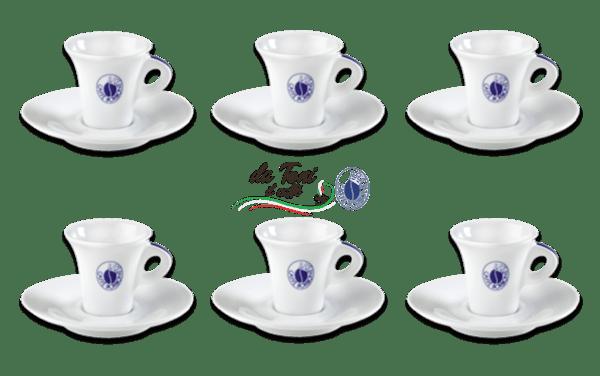 Espresso Tassen Borbone im 6er-Set
