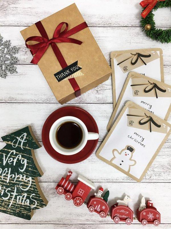 咖啡癮聖誕單盒_白色雪人