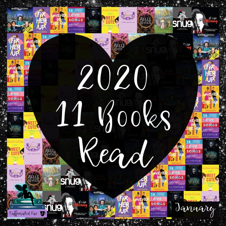 Photo showing all 11 books read this year.