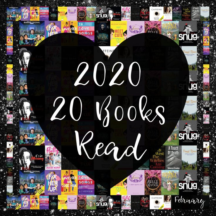 Picture showing all 20 books read so far in 2020