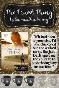 "Graphic showing the Cover photo and the quote ""If it had been anyone else, I'd have chickened out and walked away. But Jack Devlin gave me the courage to push through my insecurities."""