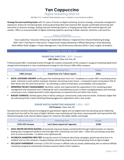 sample resume transition to consulting