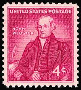 Noah Webster on a Four-Cent Postage Stamp