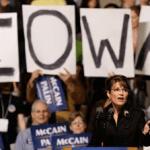 Update on Sarah Palin's Speech at Iowa GOP's Reagan Dinner in Des Moines