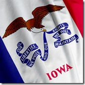 Iowa Flag Closeup