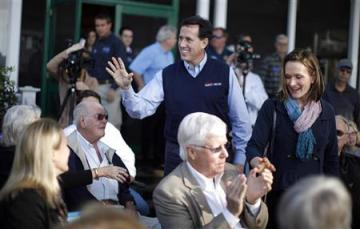 Rick and Karen Santorum in South Carolina