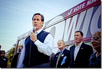 Rick Santorum at No Wiggins Tour Des Moines Stop