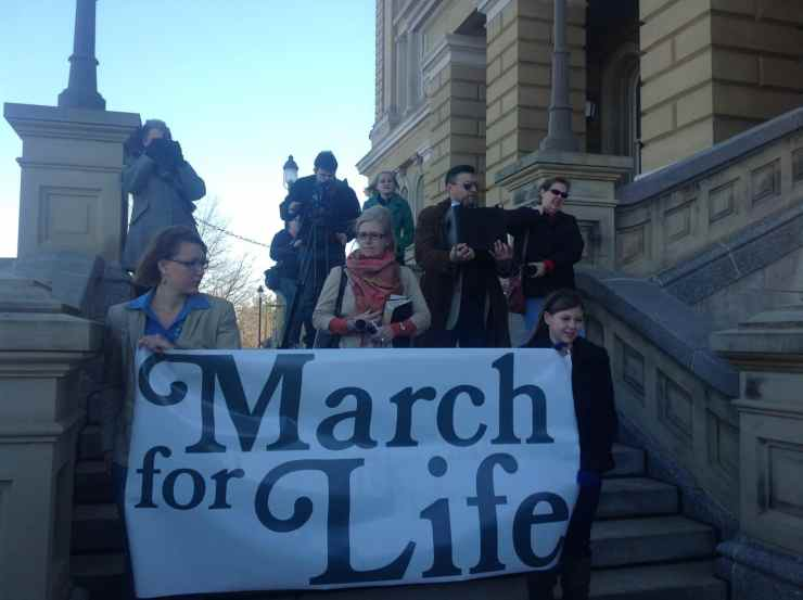 Tamara Scott at Midwest March for Life