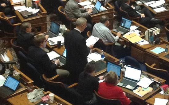 State Representative Ron Jorgensen introducing HF 215
