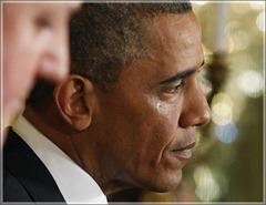 President Obama tears