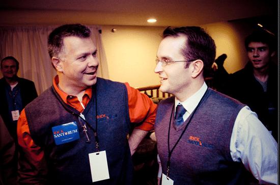 Chuck Laudner (on left)