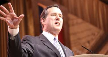 Rick Santorum speaking at CPAC