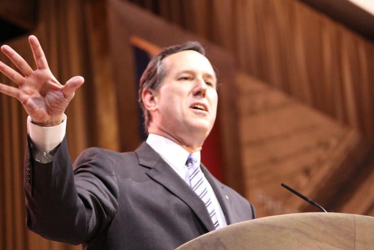 Rick Santorum speaking at CPAC