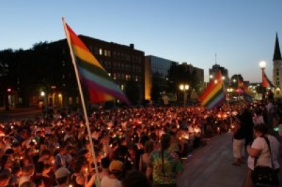 A gay rights demonstration in Lincoln, NE (Source: Watchdog.org)