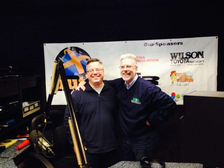 Shane Vander Hart & Brian Myers at the KTIA 99.3 Studio.