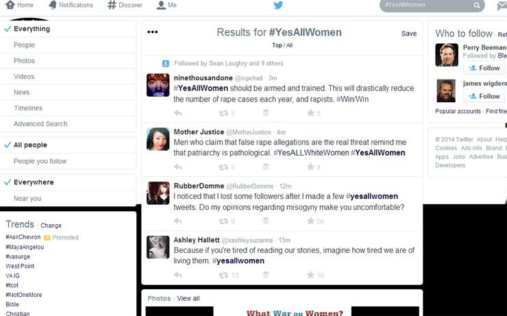 #YesAllWomenScreenCapture