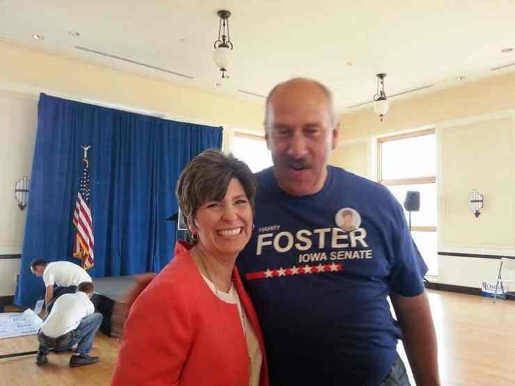 Harry Foster with U.S. Senate candidate Joni Ernst