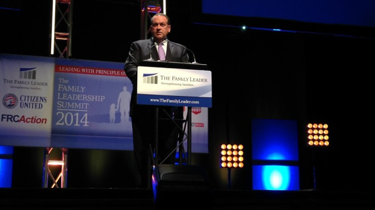 Gov. Huckabee speaking at the FAMiLY Leadership Summit in Ames, IA.
