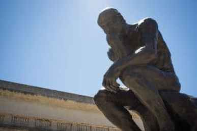 The Thinker by Auguste Rodin Photo credit: Drflet (CC-By-SA 3.0)