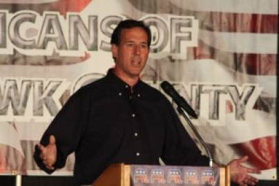 Rick Santorum at Black Hawk County Republican Dinner in 2011. Photo credit: Dave Davidson - Prezography.com