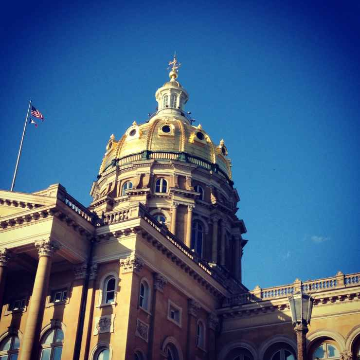 Iowa Statehouse Dome Square