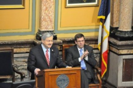 Iowa Gov. Terry Branstad and House Speaker Kraig Paulsen (R-Hiawatha) Photo source: Governor Branstad's Office