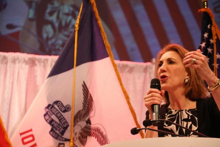 Fiorina at Iowa Faith & Freedom Coalition 2015 Spring Kick-Off<br>Photo credit: Dave Davidson - Prezography.com