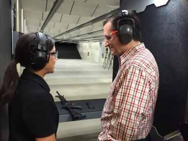 Cruz receives a briefing before firing the MMP 15.