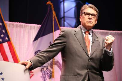 Rick Perry at 2015 Iowa Faith & Freedom Coalition Spring Event.Photo credit: Dave Davidson - Prezography.com