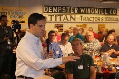 Marco Rubio at Westside Conservative Club on 7-8-15.Photo credit: Dave Davidson (Prezography.com)