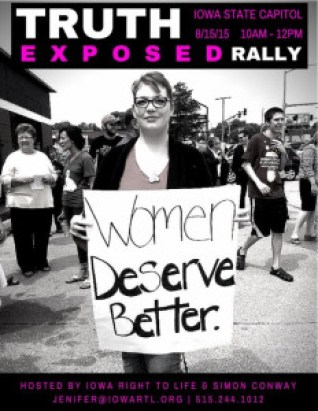 TruthExposed Rally Against Planned Parenthood on August 15