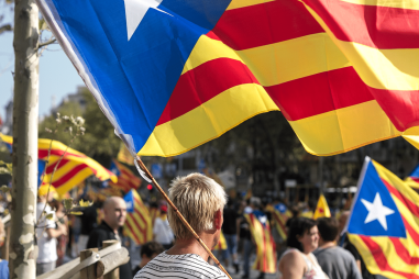 A Catalan independence demonstrationPhoto credit: Ivan McClellan (CC-By-2.0)