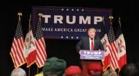 Donald Trump at a campaign rally in Burlington, Iowa. (Photo credit: Dave Davidson - Prezography.com)