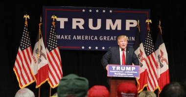 Donald Trump at a campaign rally in Burlington, Iowa. (Photo credit: Dave Davidson - Prezography.com)