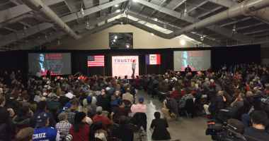 Rally for Ted Cruz in Des Moines, IA at the Iowa State Fairgrounds.