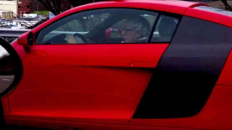 Bernie Sanders tooling around in his $185K Audi R8