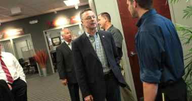 Congressman Rod Blum (R-IA) at a business roundtable in Hiawatha, IA. Photo credit: Gage Skidmore (CC-By-SA 2.0)