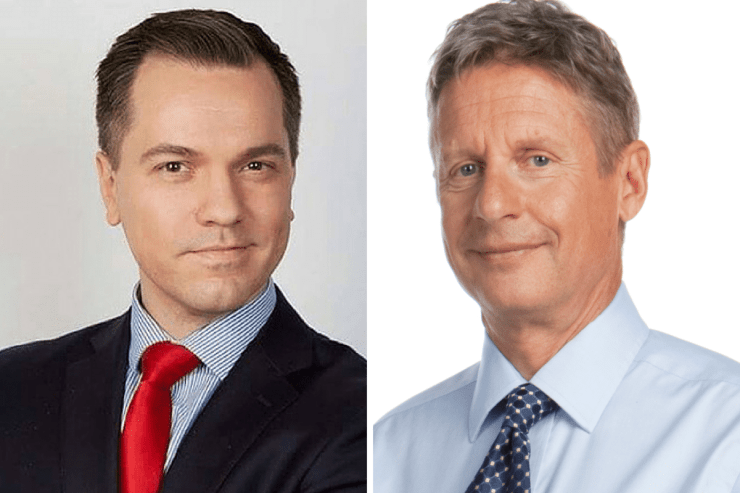Austin Petersen (R) and Gary Johnson
