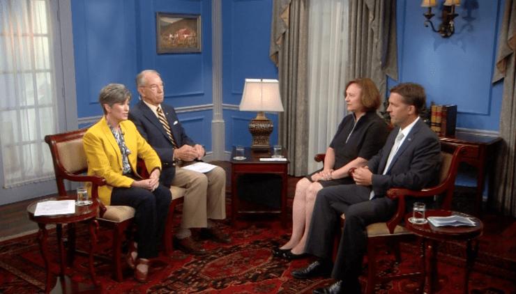 From left: U.S. Senators Joni Ernst, Chuck Grassley, Deborah Fischer and Ben Sasse